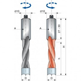PF04M Vrták kolíkovací neprůchozí