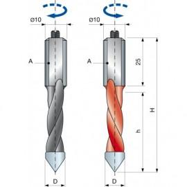 PF10M Vrták kolíkovací průchozí