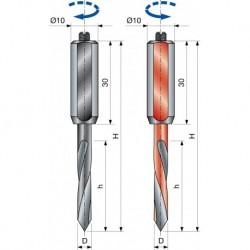 PF33M Vrták kolíkovací průchozí
