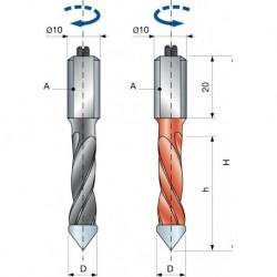 PF11M Vrták kolíkovací průchozí