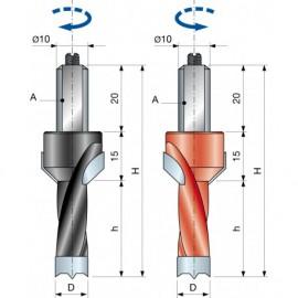 PF08MC Tiplifúrók süllyesztövel zsákfuratokhoz