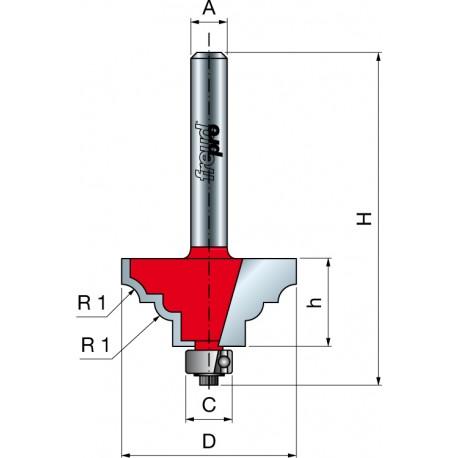 38- Profilová fréza s ložiskem