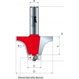 85- Frezy do zaokrąglania krawędzi łączącej z elementem podblatowym