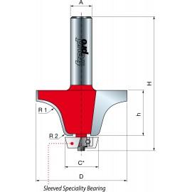 85- Frezy do zaokrąglania esowatego krawędzi łączącej z elementem podblatowym