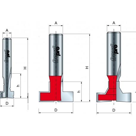 70-, 52- Fréza na cylindrické drážky