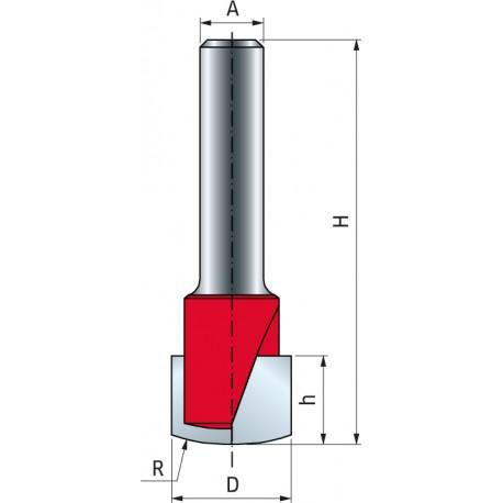 21- V-drážková fréza pro desky ACM